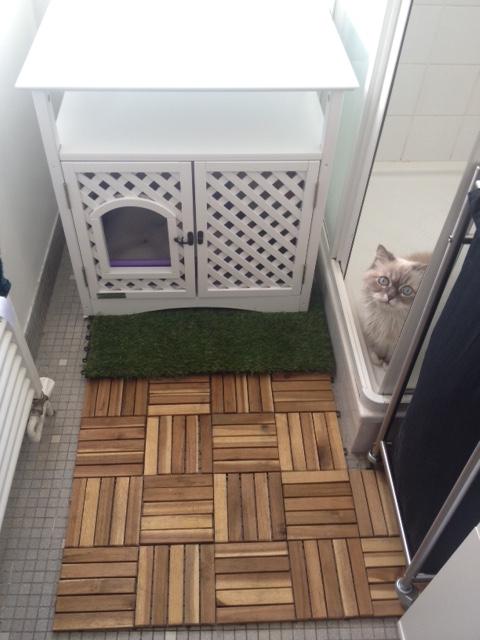 meuble pour chat helena maison de toilette niche pour. Black Bedroom Furniture Sets. Home Design Ideas
